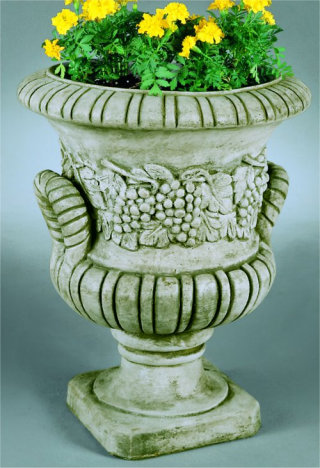 Grape Handle Urn Large Cast Stone 20