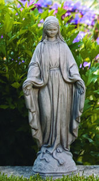 Blessed Mother Mary Garden Sculpture 17.75