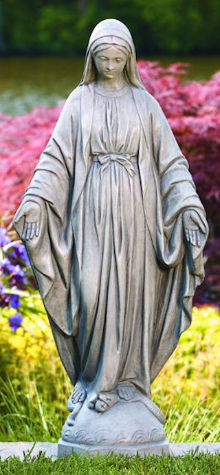 Blessed Mother Mary Sculpture 32.5