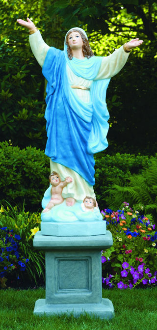 Assumption Of Mary Life-size On Pedestal