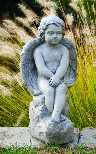 Angel Sitting On Rock 18