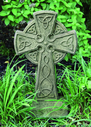 Celtic Cross Cement Garden Sculpture