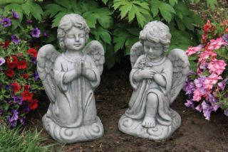 Sweet Blessing Angel Garden Statues Set