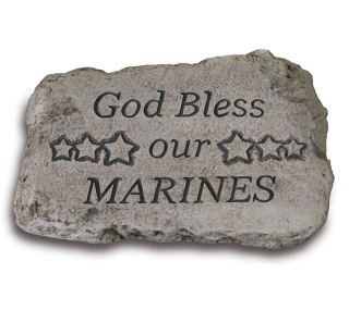 God Bless Our Marines Garden Stone