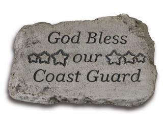 God Bless Our Coast Guard Garden Stone