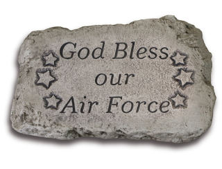 God Bless Our Air Force Garden Stone