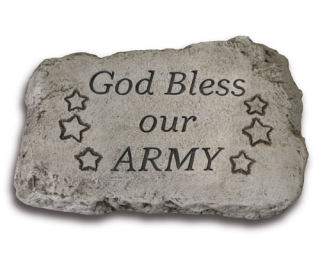 God Bless Our Army Garden Stone