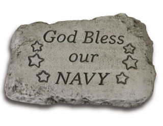 God Bless Our Navy Garden Stone