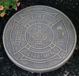 Fire Department Stepping Stone Statue
