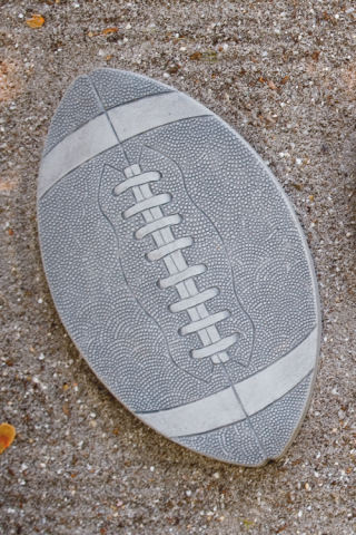 Football Stepping Stone Sculpture