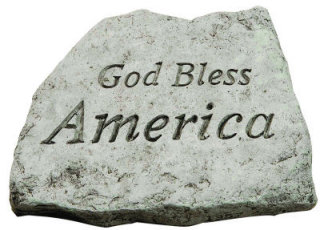God Bless America Accent Garden Stone