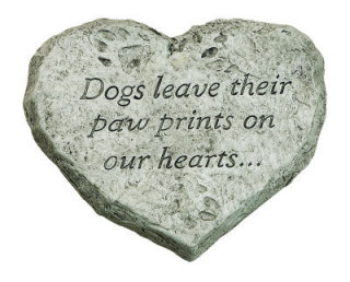 Heart Stone Dogs Leave Their Paw Prints