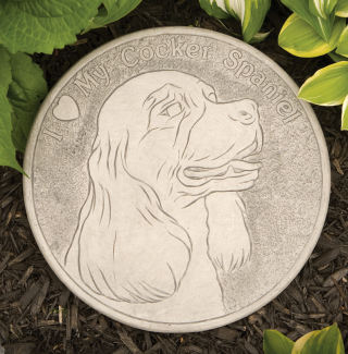 Cocker Spaniel Garden Stepping Stone