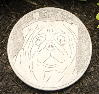 Pug Dog Garden Stepping Stone