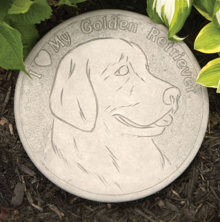 Golden Retriever Garden Stepping Stone