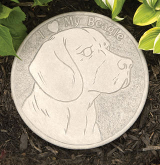 Beagle Garden Stepping Stone