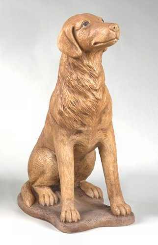 Sitting Hound Dog Sculpture 32.5