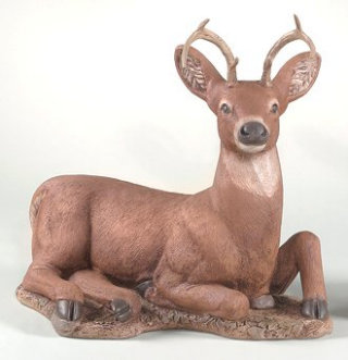 Deer Laying Down Sculpture 27