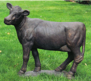 Cow Garden Statue Cement Sculpture 36