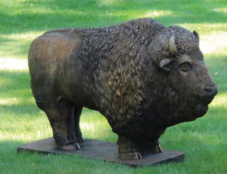 Buffalo Cement Garden Statue Large
