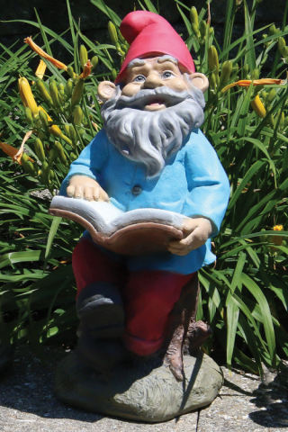 Lazy Daze Garden Gnome with Book Statue 16