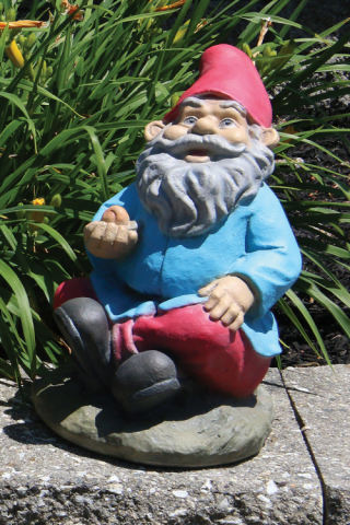 Lazy Daze Garden Gnome with Snail Statue 12.5