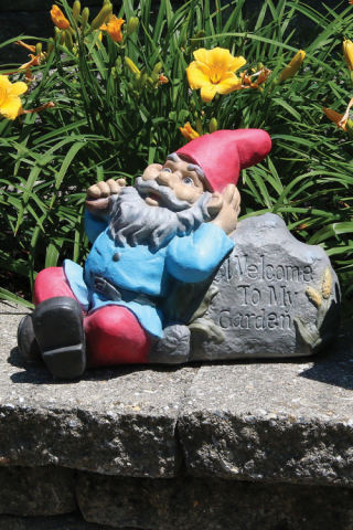Lazy Daze Gnome Statue Welcome to My Garden