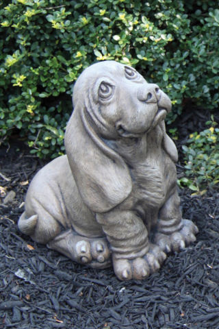 Basset Hound Puppy Dog Sculpture