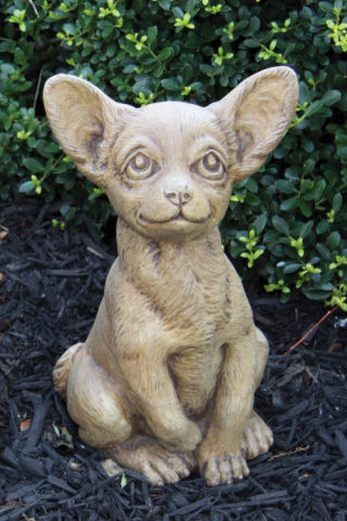 Chihuahua Puppy Dog Garden Sculpture