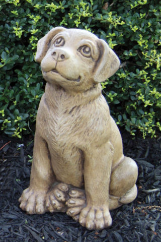 Labrador Retriever Puppy Dog Sculpture