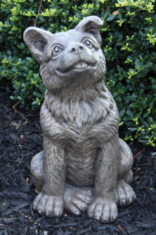 German Shepherd Puppy Dog Sculpture