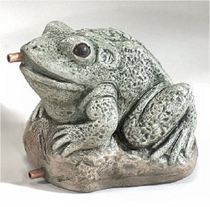 Aquatic Frog Plumbed Water Feature Statue