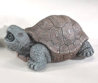 Turtle Plumbed Garden Sculpture Water Feature