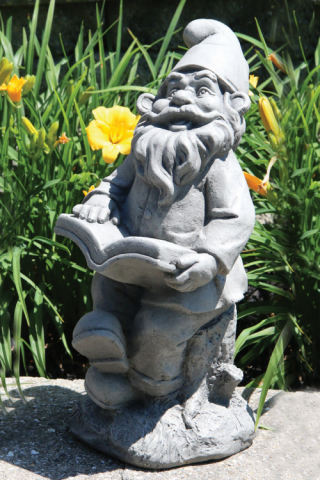 Lazy Daze Garden Gnome Book Statue 16