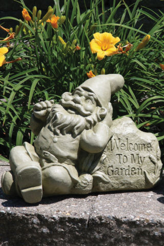 Lazy Daze Gnome Sculpture Welcome to My Garden
