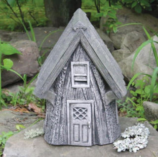 Cottage Whispering Woods Tree Stump Statue