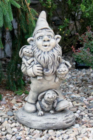 Gnome And Bunnies Statue