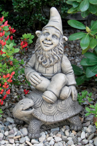 Gnome And Tortoise Statue
