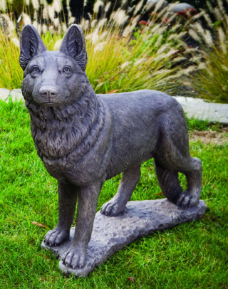 German Shepherd Cement Dog Statue 31.5
