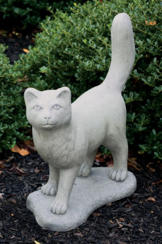 Cuddly Standing Cat Statue 18.5