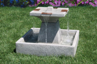 Candia Square Cast Stone Garden Fountain