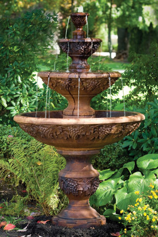 Four Tier Sonoma Grape Fountain 78.5
