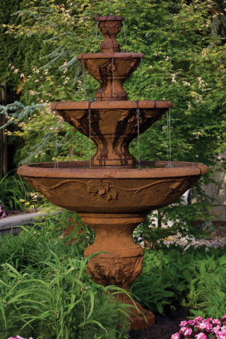Four Tier Harvest Fountain 78