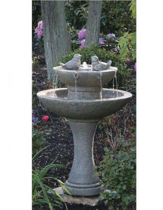 Tranquility Spill Fountain With Birds 34