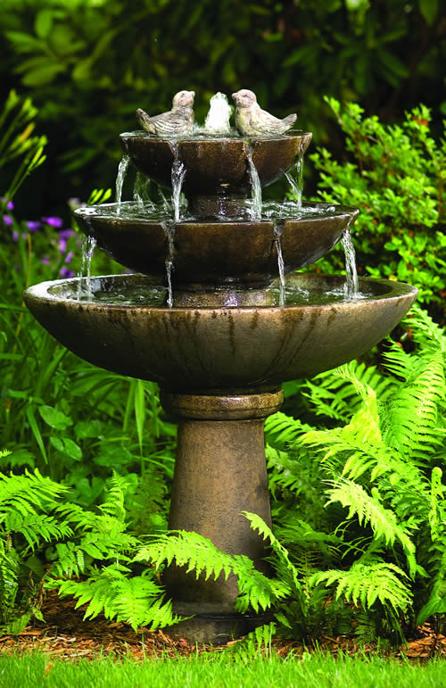 Tranquility Spill Fountain With Birds 44