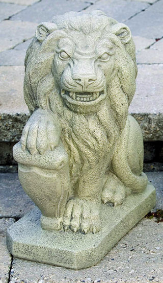 Lion With Shield Right Statue 19