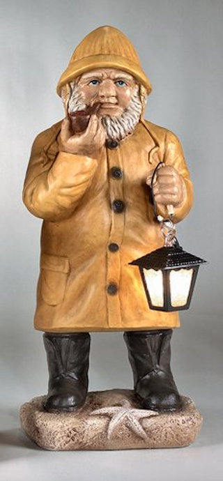 Sea Captain With Lantern Statue 36