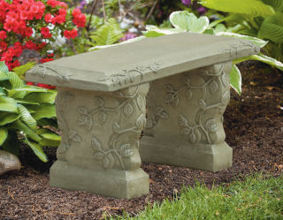 Vine Straight Garden Bench 37