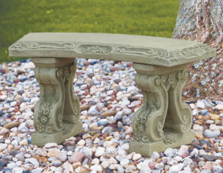 Floral Curved Bench 39