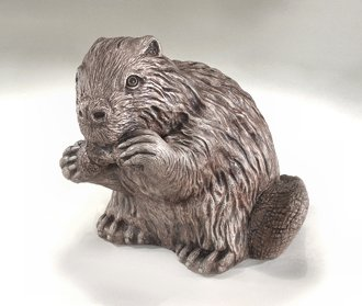 Beaver Gnawing Statue 13